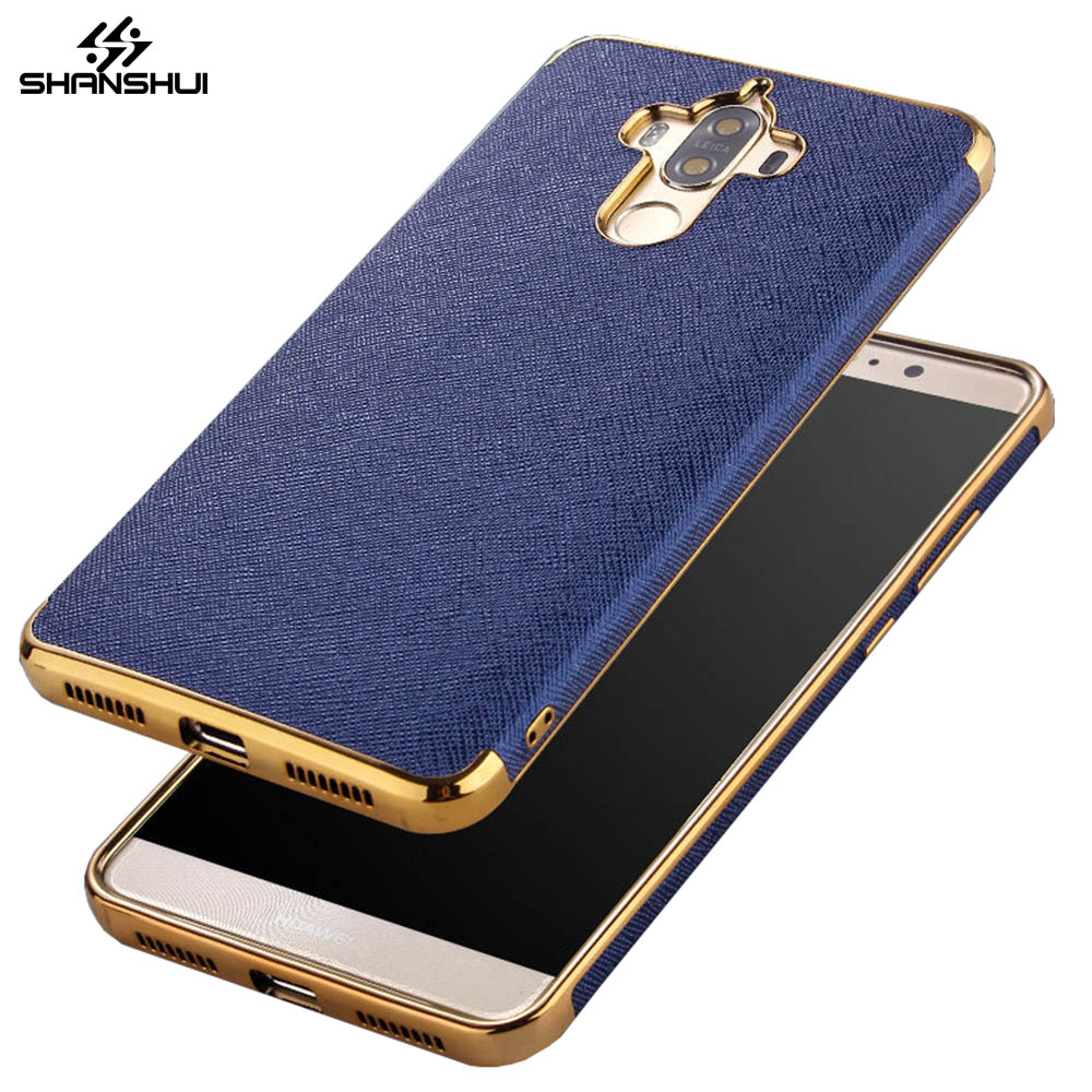 Case For Huawei Mate 9 Honor 6x Cover Matte Cuir Taiga