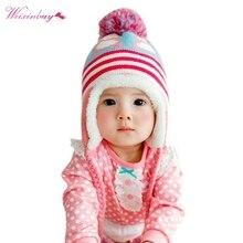 Зимние вязаные шапки для маленьких девочек и мальчиков от 6 до 36 месяцев, мягкие очень теплые вязаные крючком шапки с ушками для малышей, детская шапочка