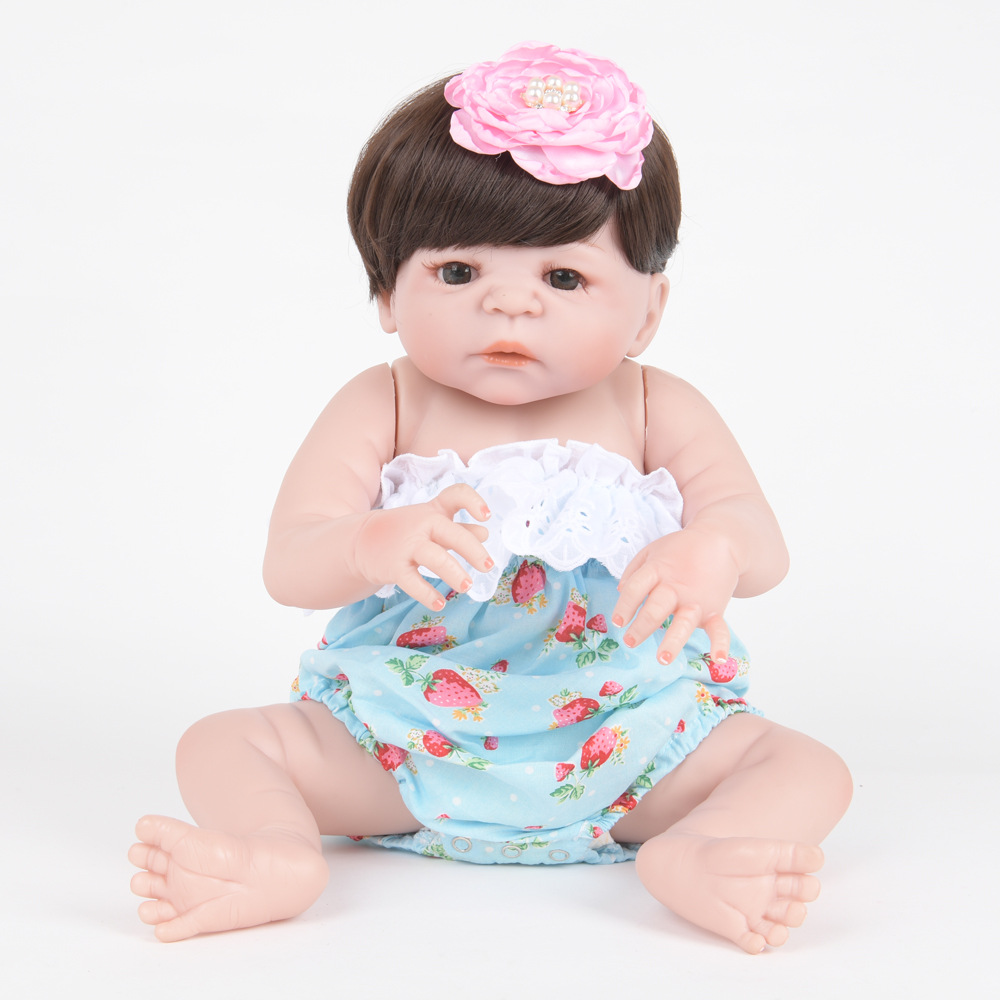 55cm Soft Full Silicone Reborn Baby Doll Realistic Newborn Princess Girl Dolls for Children Kids Toy Birthday Xmas New Year Gift недорого