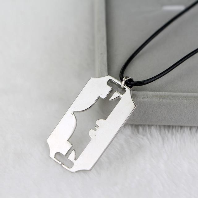 Superhero batman necklace leather cord pendants necklaces unisex hip superhero batman necklace leather cord pendants necklaces unisex hip hop jewelry aloadofball Choice Image