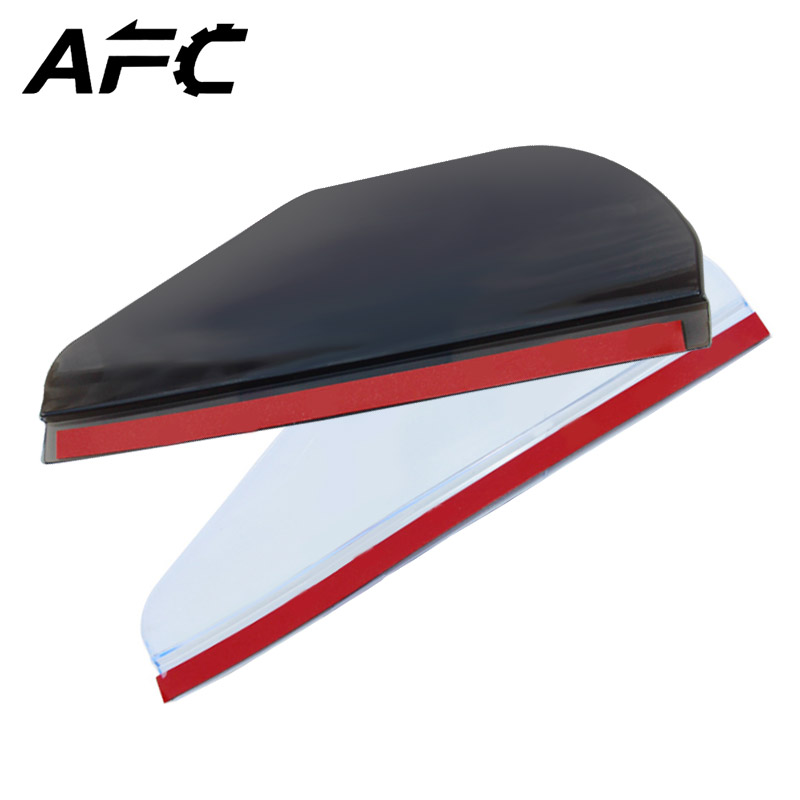 Car Rearview Mirror Eyebrow Rain Block Blades Universal Use Flexible PVC Back Mirror Rain Shade Blades Water Cover Rainproof
