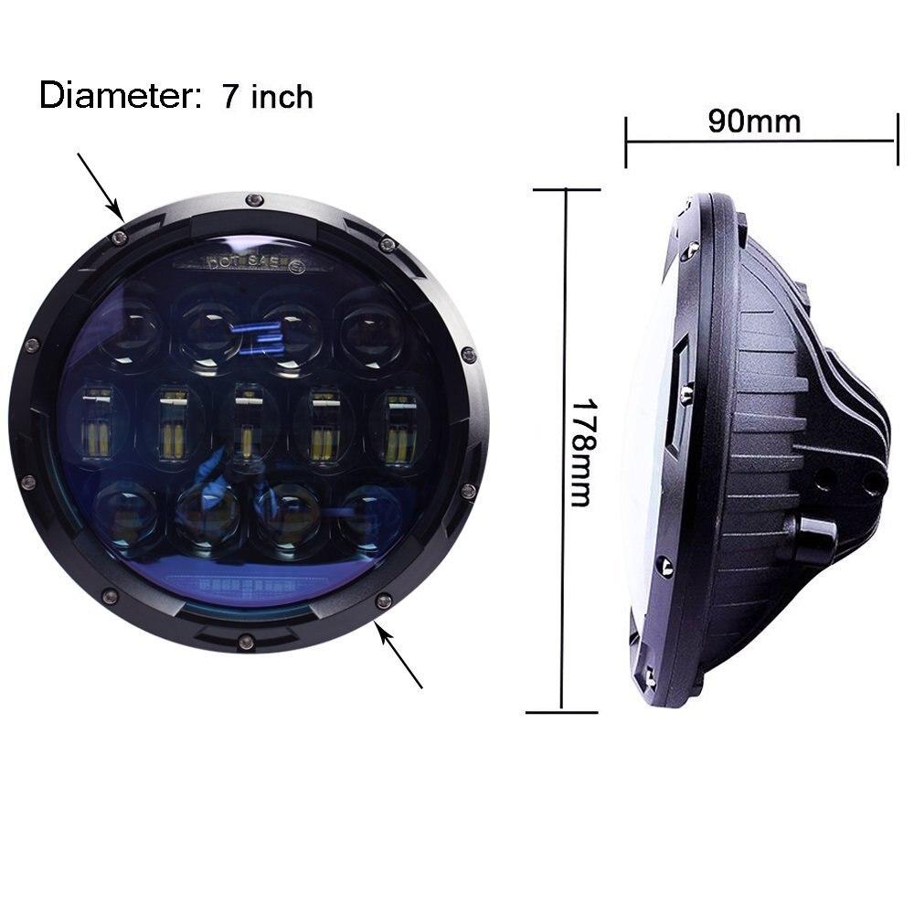 7 &quotдюймовый проектор комплект фар с DRL/янтарный сигнал поворота для Jeep Wrangler JK TJ LJ
