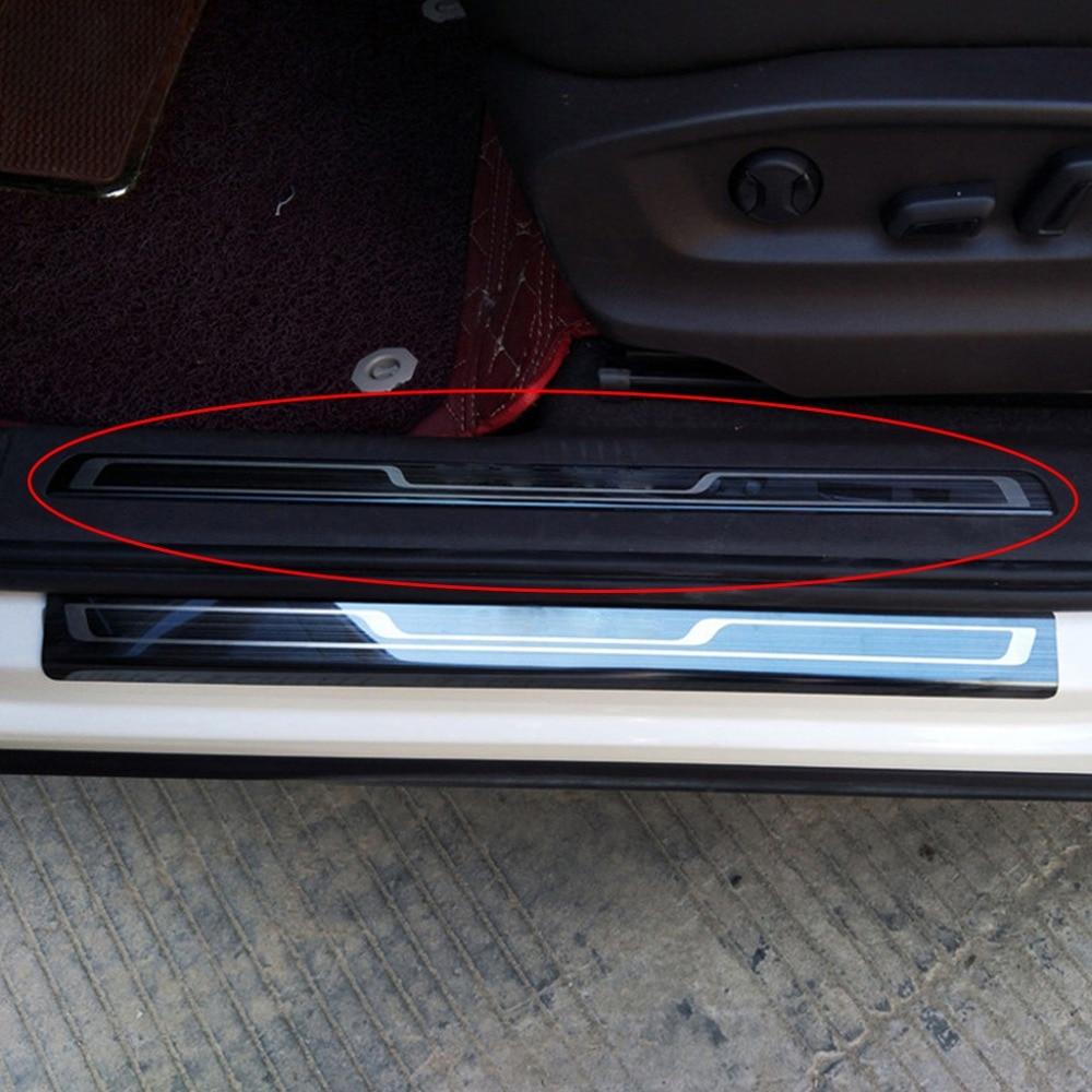 Car Door Scuff Plate Pedal Sill Trim For Volkswagen VW Tiguan MK2 2017 2018 4PCS SET
