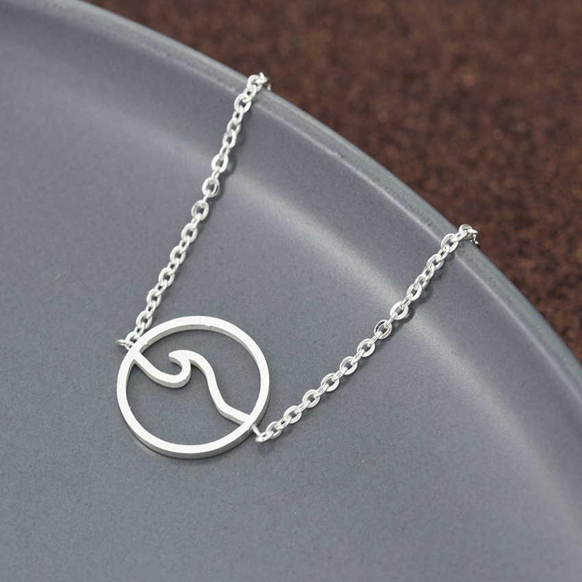V جذب الموضة حساسة موجة البحر أساور للنساء والرجال الذهب الفضة الفولاذ المقاوم للصدأ سلسلة جولة السحر سيرفر مجوهرات