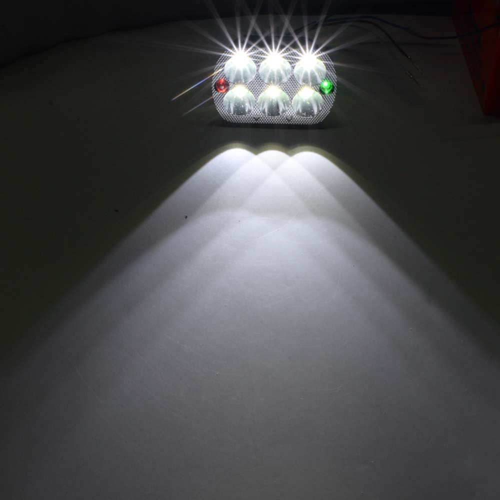 Motorcycl accessories 18W LED Head light Lamp Hi/Lo Head Lamp Spot Light Bike Motorcycle White Dirt bike Custom