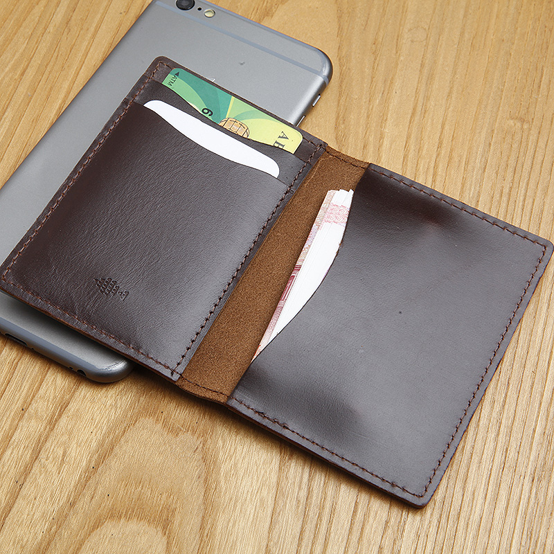 LANSPACE men/'s cow leather credit card case brand handmade coin purse bank case