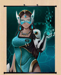 Game Overwatch OW Symmetra Cosplay Poster Wall Home Decor Scroll
