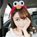 Hot Sale Korea Lovely Cooki Monster Headwear Exaggerated Big Eyes Funny Eye Sesame Street Plush Hair Accessories Elmo Headband