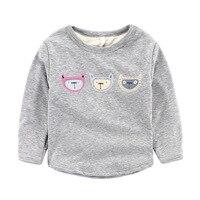 Nowy Koreański Zima Chłopiec Kreskówka Dzieci Z Długim Rękawem T-Shirt Drukowania Podwójne Kaszmirowy Kostium Dla Dzieci Koszula Vestido Infantil T