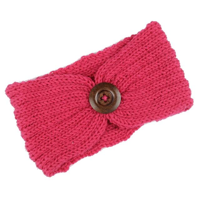 Niñas knit crochet turbante Headband caliente accesorios para el ...