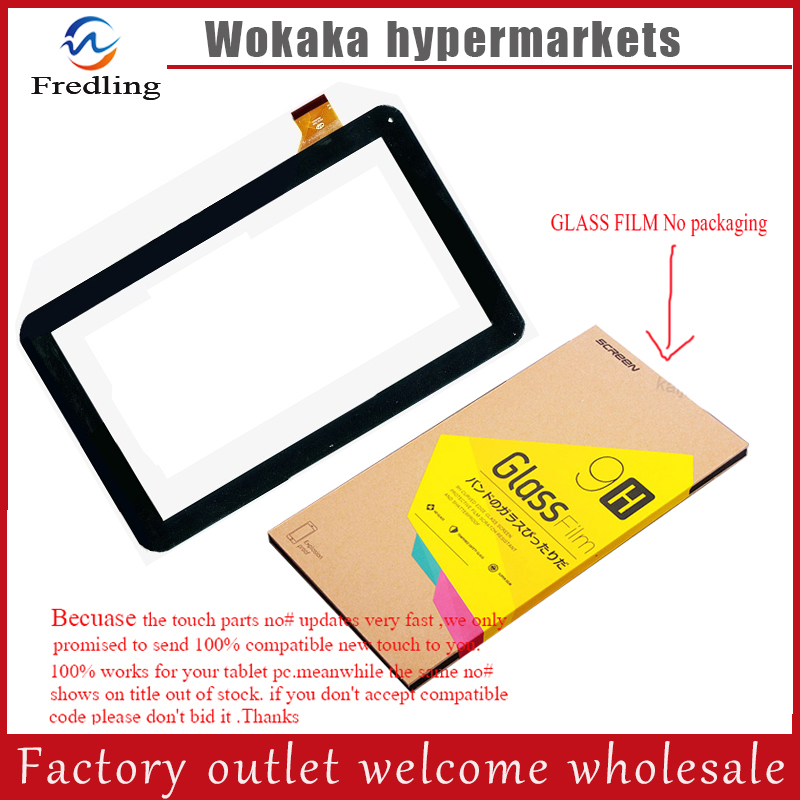 Tempered glass protector film+New Touch Screen Digitizer For Oysters T102MS 3G Tablet Touch Panel Glass Sensor Replacement tempered glass screen protector touch panel digitizer for 7 irbis tz702 tz703 3g tablet capacitive touch screen glass sensor