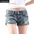 TANGNEST Summer Vintage Mini Denim SHORTS Women 2017 Sexy Worn-out Jean Hotpants With Hole Bermuda Distressed Short Pants WKD351