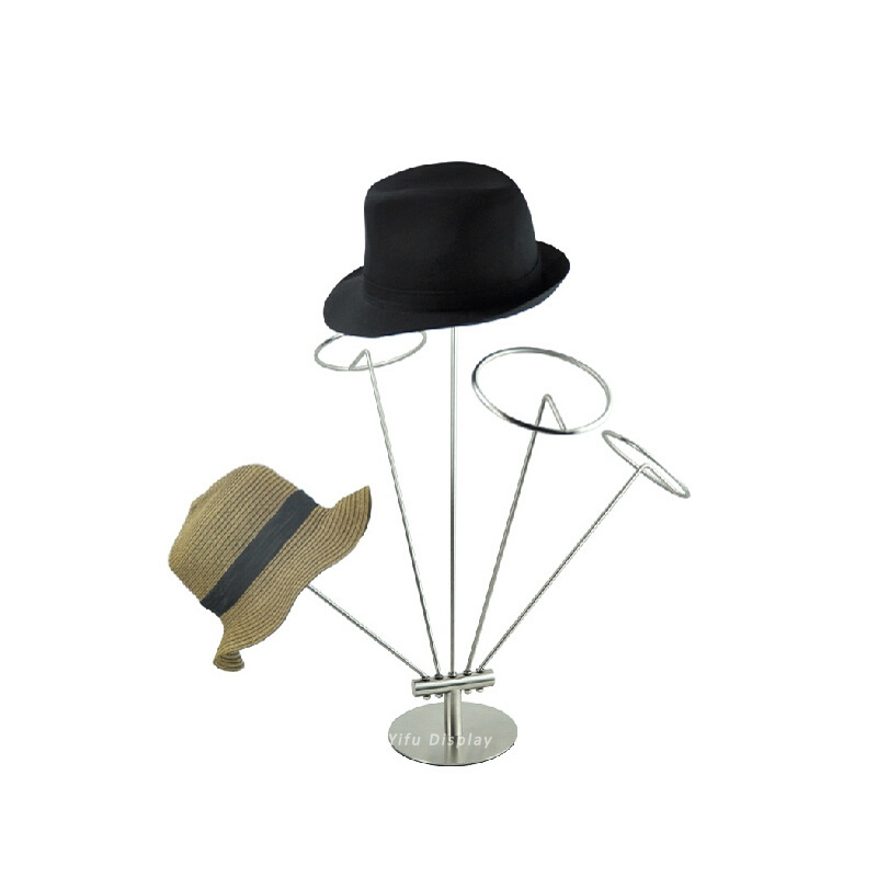 Free Shipping Metal Hat Display Multiple Bracket Hat Stand Hat Rack Hat Holder Cap Display Cap Stand HH009 free shipping metal gold hat display stand polished gold cap display racks