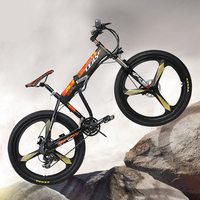 24 Speed 26 Inches 36V 8A 240W Hydraulic Lock Folding Electric Bicycle Disc Brake Aluminum Alloy