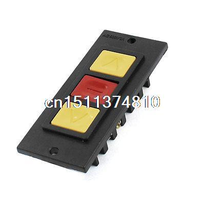 цена на Roller Shutter Door Part Panel Mount SP3T Momentary Power Pushbutton Switch