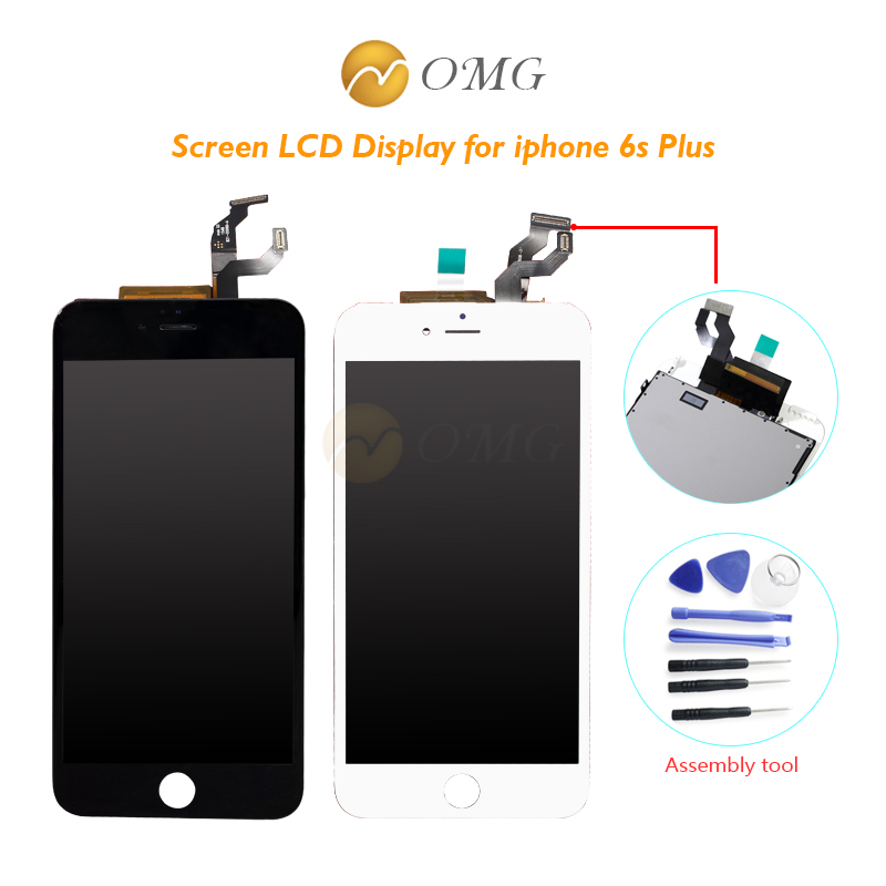 OMG Grade AAA LCD Screen Display 5.5 inch For iPhone 6s Plus LCD With Touch Screen Digitizer Assembly tools omg aaa replacement mobile phone lcd screen for iphone 6 4 7 inch display with digitizer touch smart phone screen assembly