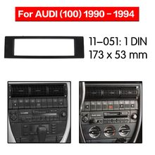 Mobil Radio Fasia Multimedia Bingkai Kit untuk AUDI (100) 1990-1994 Facia Panel Trim Dash CD Satu DIN Audio Bezel DASH(China)