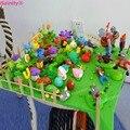 [Bainily] 18 cores Plants VS Zombies DIY Argila planta zumbi guerra Figuras de Ação Brinquedo para crianças com As Instruções 5178B