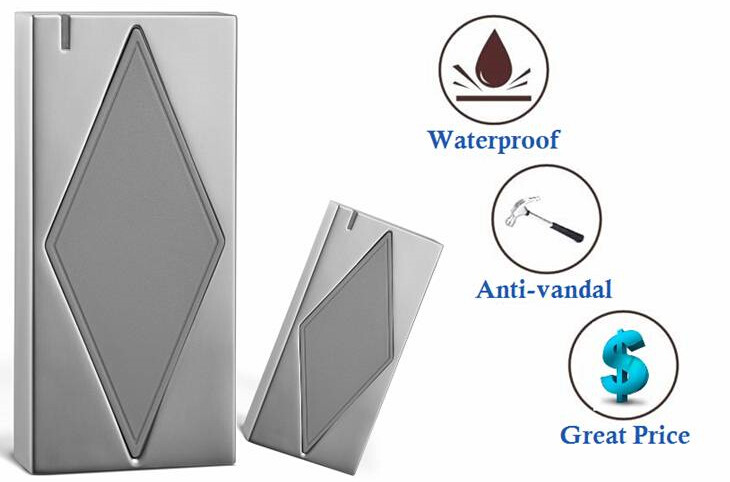 S5-R EM IP66 Metal Case Smart Card RFID ID Card Reader For Outdoor Use Wiegand 26 Waterproof Contactless ID Readers free shipping 13 56mhz smart card contactless reader wiegand rfid scanner with 10 fobs