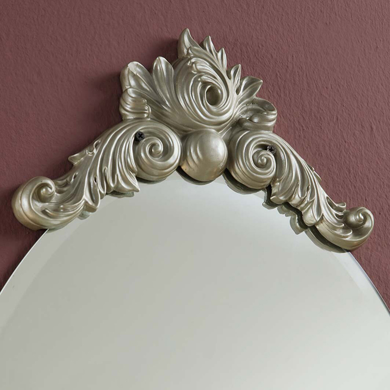 Free shipping Home Decor European Wall Mirror with shelf for     Free shipping Home Decor European Wall Mirror with shelf for bathroom or  bedroom elegant retro fashion White Gold decorative in Decorative Mirrors  from Home