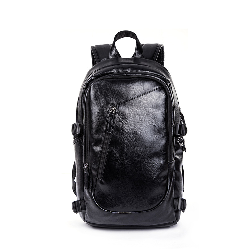 New Korean Mens Leisure Fashion Travel Pu Leather Large Capacity Backpack Student BagNew Korean Mens Leisure Fashion Travel Pu Leather Large Capacity Backpack Student Bag