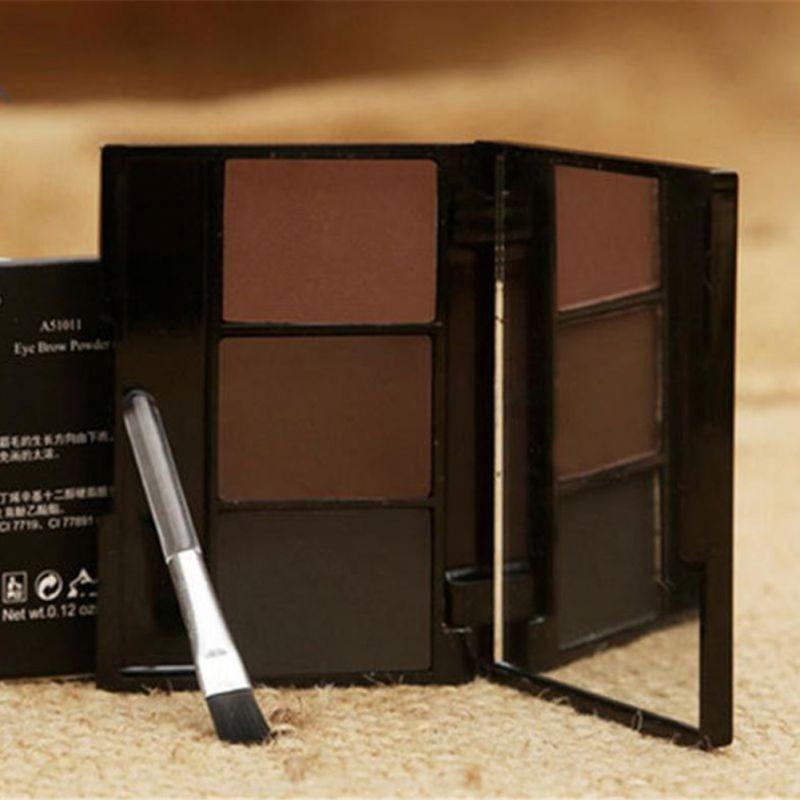 3 Colors Set Professional Makeup Eyeshadow Palette Eyebrow Makeup Palatte paleta de sombra Contour Palette Maquiagem Women 5