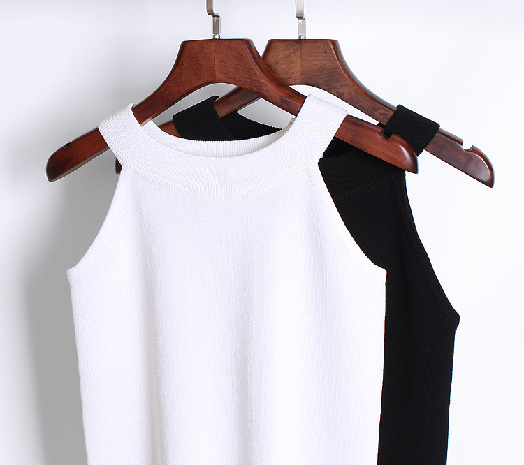 Yaz Kadın Ince Örgü Halter Kaşkorse Kadın Bodycon Örme - Bayan Giyimi - Fotoğraf 5