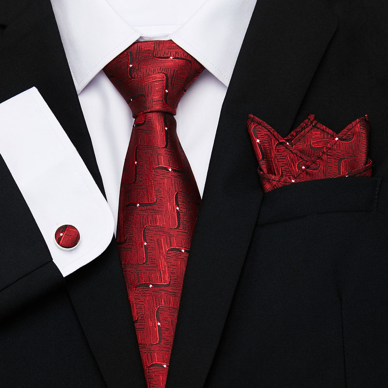 New Plaid Men Ties Set Extra Long Size 145cm*8cm Necktie Pink Gold Paisley Silk Jacquard Woven Neck Tie Suit Wedding Party