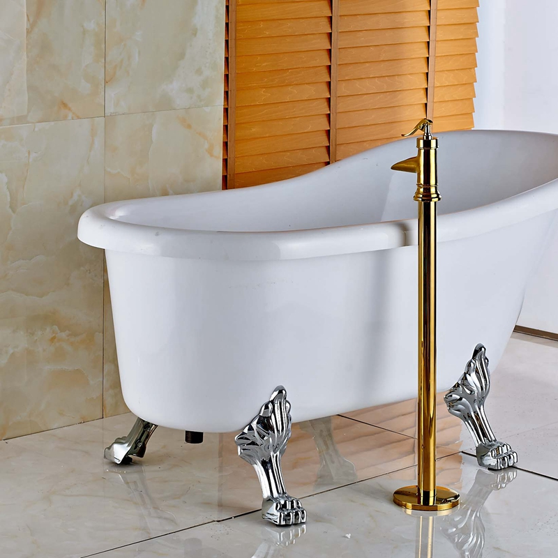Oil Rubbed Bronze Luxury Tub Mixer Tap Bathroom Tub Faucet Floor ...