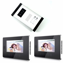 7″ Security Doorbell Camera Touch Key Video Interphone Night View Doorbell Intercom Video Intercom 2 monitor+1 camera