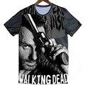Camiseta del verano LAS MUJERES Cool The Walking Dead Impreso Camisetas Gimnasio de Manga Corta Camiseta de La Camiseta de Tes Superior