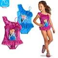 Anna Elsa Muchachas del verano traje de Baño Lindo Bikini traje de Baño Para Niños Con Volantes Traje de Baño Para Niña Niños Traje de Baño Maillot De Bain