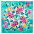 2016 Silk 60cm*60cm New Spring Oil Painting Graffiti Flower Scarves Little Lady