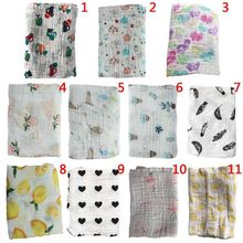 Newborn Cotton Blanket Baby Muslin 100% Soft Bath Towel Cartoon Wrap L1