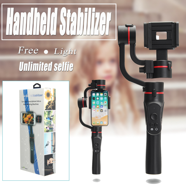 Handheld 3-Axis Gimbal Stabilizer For Smartphone Smooth Q Model For Phone Action Camera-Gopro Tripod Microphone LED