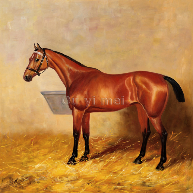 Famous Horse Prints and Paintings Wall Art Brown Realistic ...