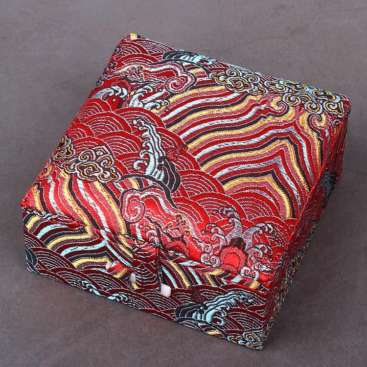 дешево!  Роскошная Площадь Морская Вода Шелковая Ткань Подарочная Коробка Браслет Ювелирные Изделия