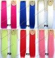 Женская мода Красочные Шнурок Хвост Волосы Прямые Длинные Ролик в Ribbon Хвост Расширения Синтетические Волосы Хвост 16 Цветов