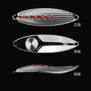 Image 5 - 1 個の高品質金属スプーン釣りルアーフィッシングタックル Wobblers スピナー餌 5 グラム 7 グラム 10 グラム 15 グラム 20 グラム vmc 羽フック