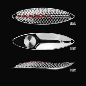 Image 5 - 1Pcs Hohe Qualität Metall Löffel Angeln Lure Fishing Tackle Wobbler Spinner Köder 5g 7g 10g 15g 20g VMC Feder Haken