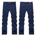 Envío libre más los pantalones del tamaño extra grande de la versión europea 100% algodón wei pantalones ocasionales flojos pantalones largos tamaño 46