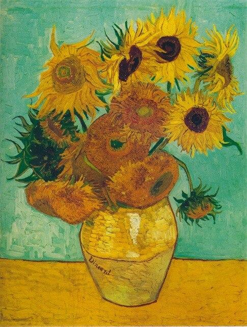 Van Gogh Girasoli home decor wall art immagini di fiori dipinti ad ...