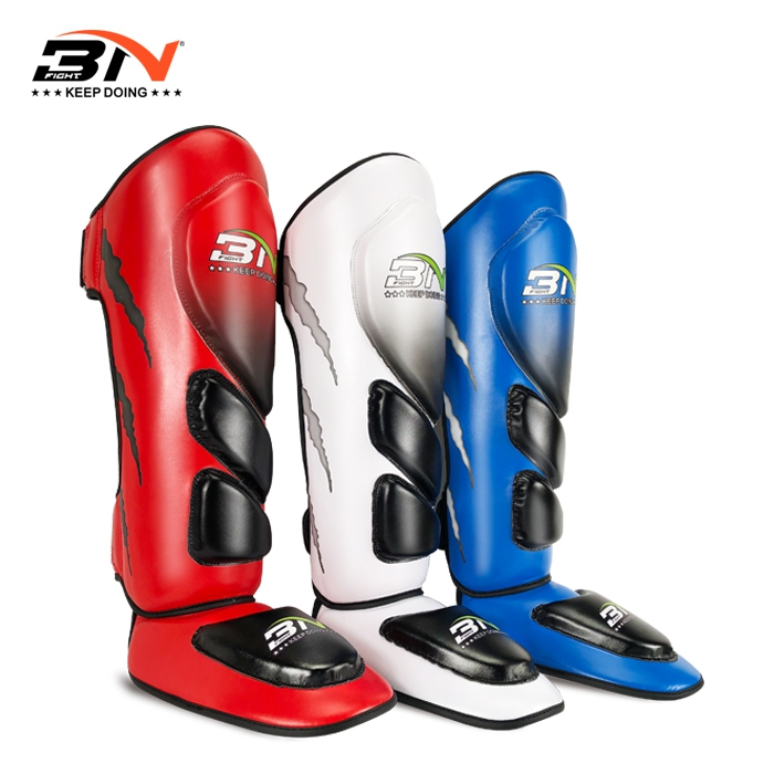 Protection Top Quality Boxing shin guards MMA instep protectors foot kickboxing pad Muaythai Training Leg support protectors jduanl 1pc left right thick leg support boxing pads muay thai mma legs guards protector trainer combat sanda karate training deo
