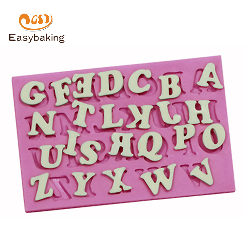 26 Uppercase Alphabet Mold Silicone Letters Arts Mould Fondant Wilton Cake Decorating Tools Cooking Silicone Baking Molds