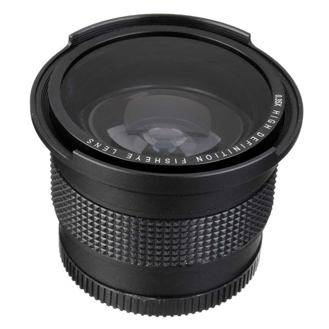 0.35x 52mm Super Fisheye Wide Angle Lens for Nikon D7100 D7000 D5200 D5100 D5000 D3100 D3000 D90 D60 D40 With 18-55mm Lens