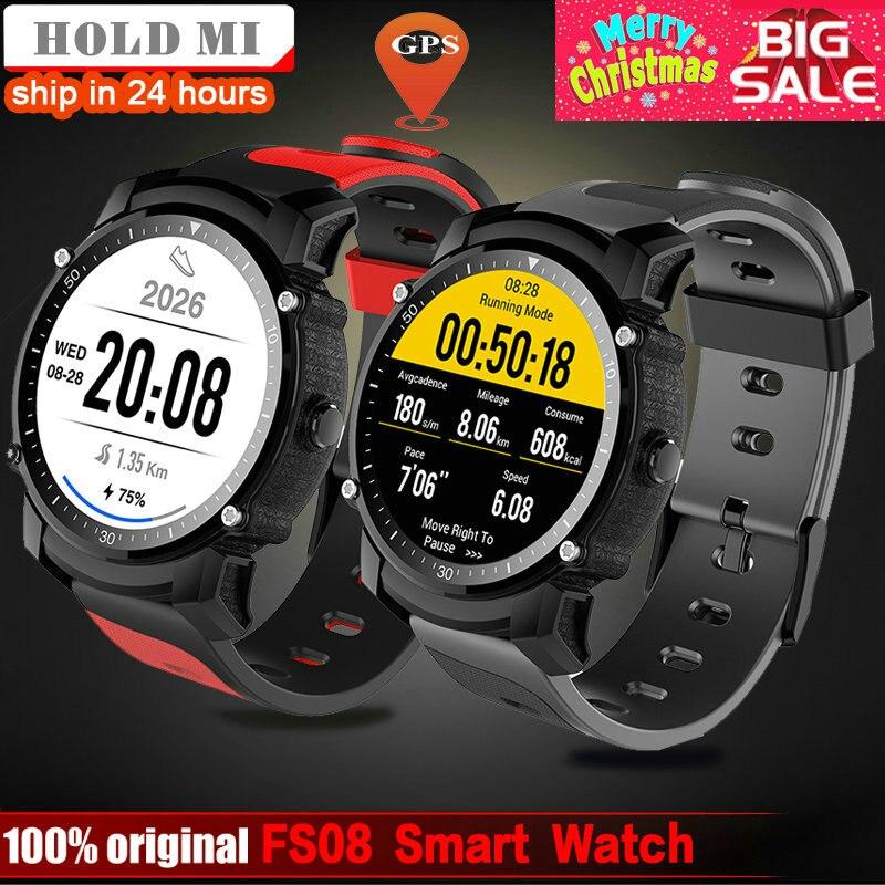 FS08 Смарт-часы Для мужчин IP68 Водонепроницаемый gps спортивные Фитнес трекер Секундомер Монитор сердечного ритма наручные часы для IOS и Android