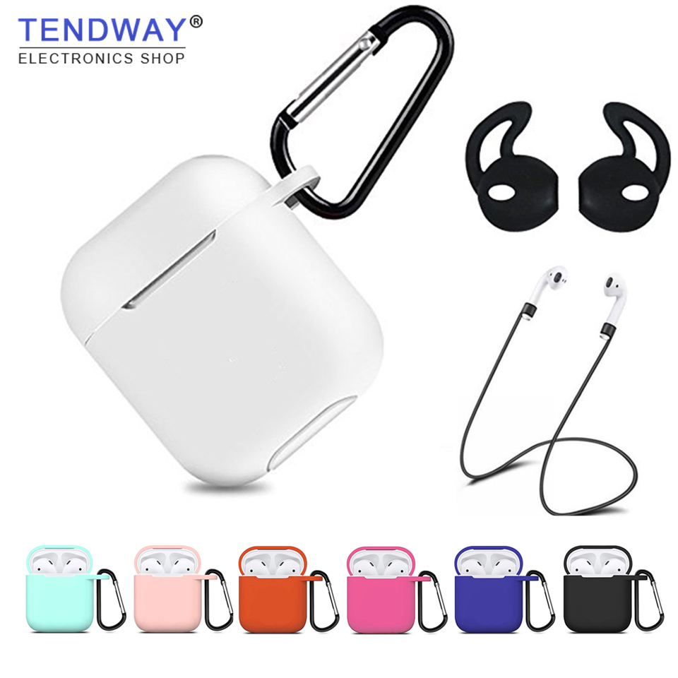 Silicone For Apple AirPods accessories Case Shock Proof Sleeve Skin Cover for AirPods True Wireless Earphone box accessories цена