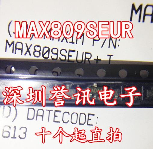 MAX809SEUR + T MAX809S Silkscreen ADAA SOT23 2.93V Level Reset IC 50PCS/LOT