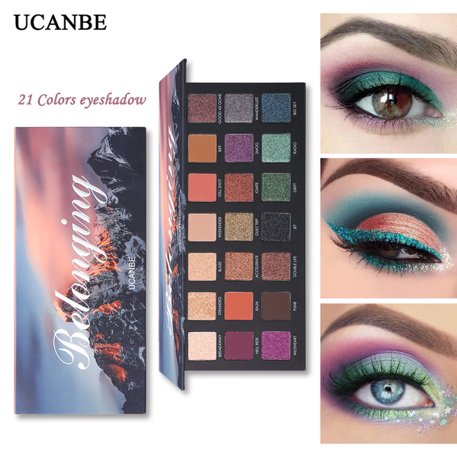 UCANBE New Eye Shadow Palette Hot 21 colors shimmer Matte mixed Eye Shadow Palette Nude long-lasting Eyeshadow Palette