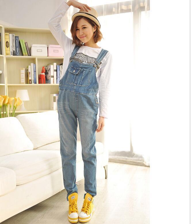 982b8edbb85 Envsoll Maternity Pants Jumpsuit Light Blue Denim Plus Size Overalls  Pregnant Jeans For Pregnant WomenSuspender Trousers-in Jeans from Mother    Kids on ...